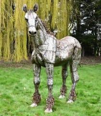 Horse & Donkey Sculptures